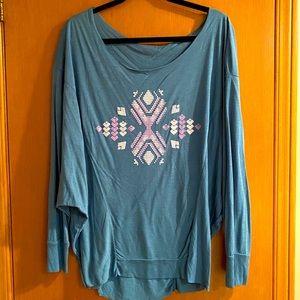 Anama Boatneck Neck Dolman Sleeve Shirt